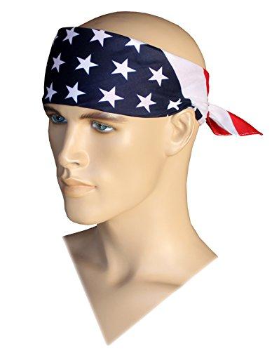 US Bandana American Flag Bandana Headband USA Flag Bandana Team USA Apparel (Bandana Usa Flag)