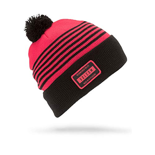 Winter Beanie Volcom (Volcom Boys Powder Acrylic Pom Snow Beanie, fire red One Size Fits All)