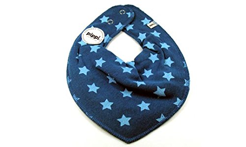 Premium HALSTUCH Dreieckstuch mit Sternen Baby Kinder blau hellblau