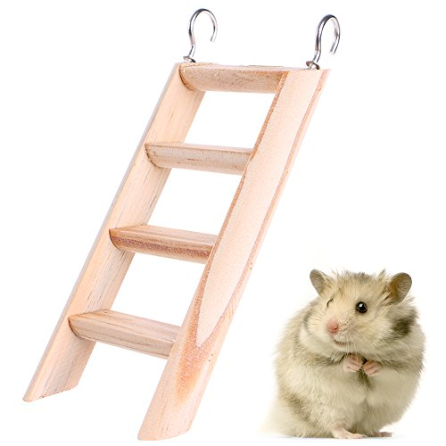 OHTOP Hamster Chew Toys Wooden Hanging Climbing Ladder For Small Pet Mouse Rat Mice durable service