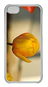Customized iphone 5C PC Transparent Case - Yellow Tulip Cover