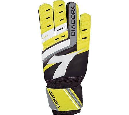 Diadora Heren Euro Handschoenen, Lichtgewicht Fluo Geel / Zwart