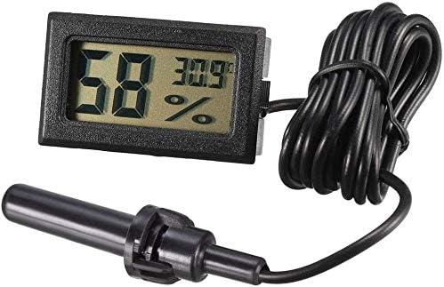 YXNZ Mini Digital-Temperatur Kühlschrank Elektronische Thermometer Schwarz Indoor-Thermometer-Hygrometer LCD Display Celsius ° C for Humidore, Gewächshäuser, Garten, Keller, Kühlschrank, Schrank