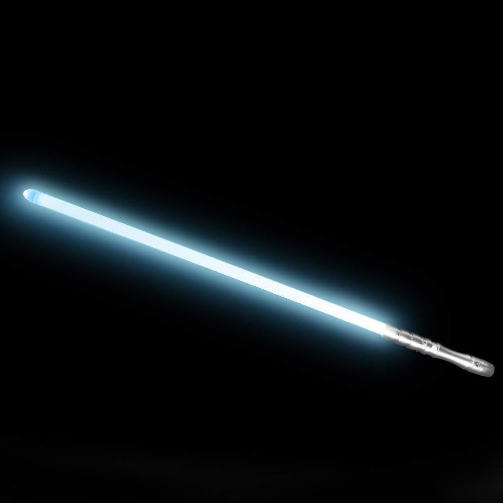 YDD LED Light Saber Force FX Lightsaber with Sound and Light, Metal Hilt, Star Wars Toy for Kids (Silver Hilt Iceblue Blade) by YDD (Image #2)