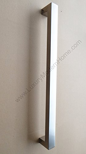 dh - 16'' Rectangular Tube Pull Shower Door Handle Square Stainless Steel 304 by LuxuryModernHome (Image #3)