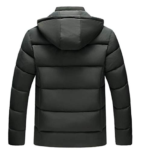 Hood AS4 Down Mens Coat Zip Outwear Winter XINHEO Full Velvet Thicken Warm HUxU6wAg