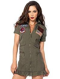 Women's Licensed Top Gun Flight Dress Costume