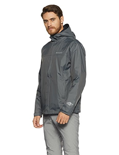 Columbia Men's Watertight II Front-Zip Hooded Rain Jacket,Graphite,XX-Large