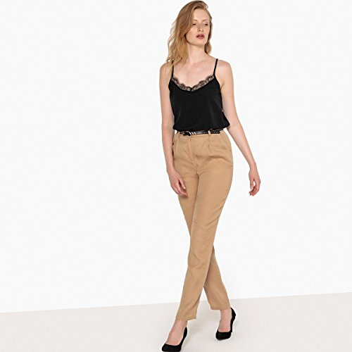 Vita La Lyocell Collections Redoute Pantaloni Alta Beige Donna raWawTqnI