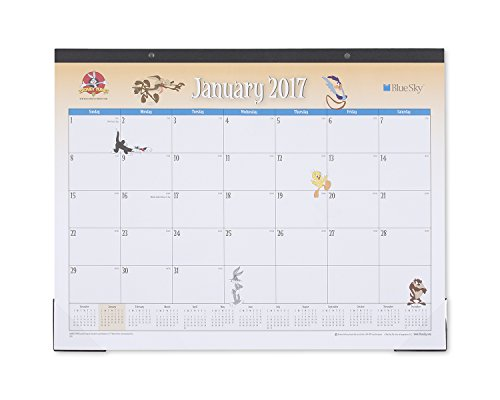 looney-tunes-by-blue-sky-multi-character-22-x-17-monthly-desk-pad-calendar-jan-2017-dec-2017