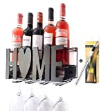 Rosil Shop Wall Mounted Wine Rack - Wine Wall Rack - Wine Holder for Wall - Wine Rack with Glasses Holder - Wine Chiller Included - Kitchen Accessories - Great Gift and Perfect Home Decor
