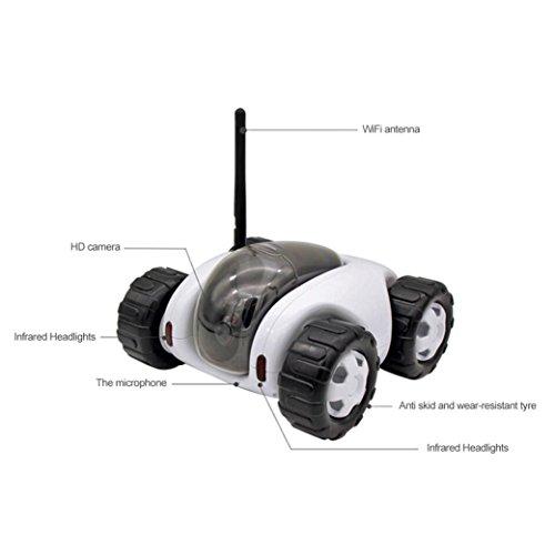 Vibola Remote Control Car Wireless remote control car camera that movement parent-child intelligent (white -O) by Vibola® (Image #5)