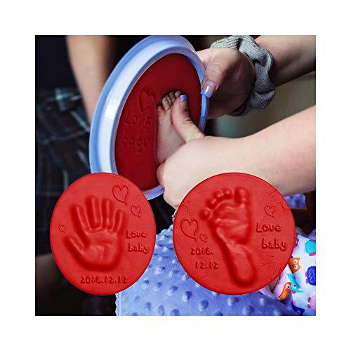 Baby Care Air Hand Foot Inkpad Drying Soft Clay Baby Handprint Footprint Imprint Casting Parent-Child Hand Inkpad Fingerprint20g (White) (Clay Children Bentonite)