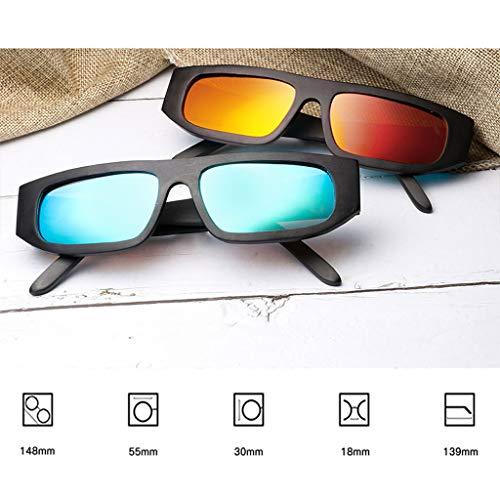 bambú Polarizada Brown de Y Bambú Personalidad Madera Hombres Gafas de Los Europea Americana Cubierta de Gafas sol de Gafas La Azul Cuadrada La de Color wfzgnFx1q7