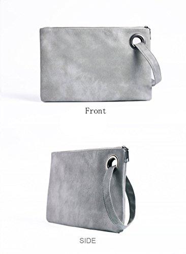 Handbag Oversized Blue Retro Women Package Wristlet Evening Sky Leather Tote Bag Purse Clutch Envelope PU Handbag Bag R7xxEwT4qF