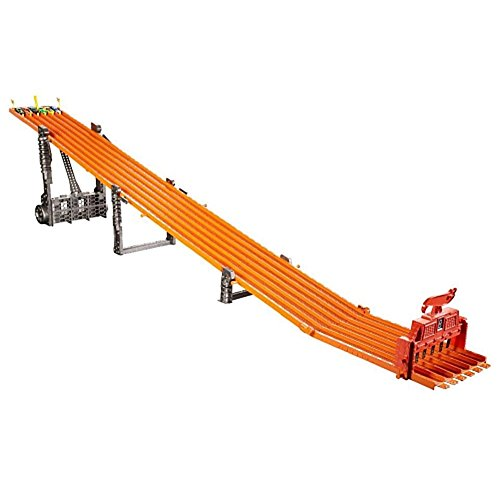 Deco Six Light - 2017 Hot Wheels Racing Alley Fan-Favorite Race Tracks Super 6-Lane Raceway with Lights & Sounds and 6 cars 2.45m/8+ ft long