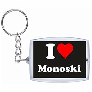 EXKLUSIV bei uns: Schlüsselanhänger I Love Monoski in Schwarz, eine tolle...