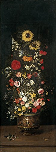 The High Quality Polyster Canvas Of Oil Painting Brueghel The Elder Jan Florero Ii  First Quarter Of 17 Century   Size  16 X 43 Inch   41 X 109 Cm  This Best Price Art Decorative Prints On Canvas Is Fit For Hallway Decoration And Home Gallery Art And Gifts