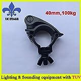 Ochoos 40mm Selflock Hook Easy clamp,Pole/Truss Clamp Kits,Truss Lighting Hook Clamp