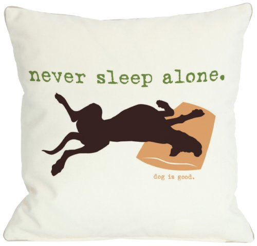 One Bella Casa Never Sleep Alone Throw Pillow, 16 by 16-Inch from One Bella Casa