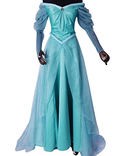 Modern Day Princess Costumes (Princess Costume Adult Women, Deluxe Halloween Cosplay Outfit Fancy Dress Green (XL))