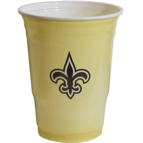 NFL New Orleans Saints Game Day Cups (18-Ounce, 18 count) (Game Day Cup)