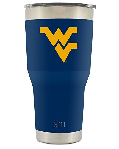 Simple Modern West Virginia University 30oz Cruiser Tumbler - Vacuum Insulated Stainless Steel Travel Mug - WVU Mountaineers Tailgating Hydro Cup College Flask
