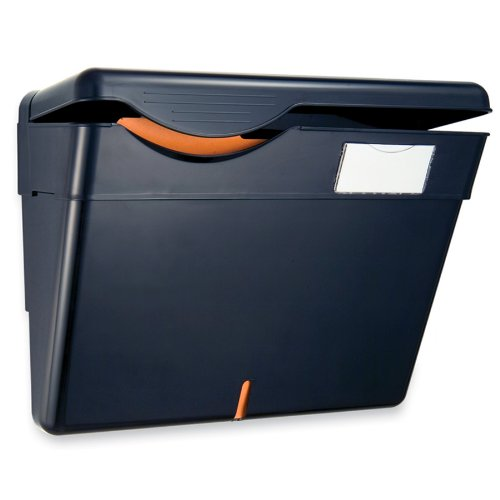 Officemate Security Wall File with Cover, Black, 1 File (21472) by Officemate
