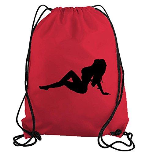 stickerslug-red-classic-sexy-stripper-silhouette-drawstring-gym-bag-nylon-workout-bag