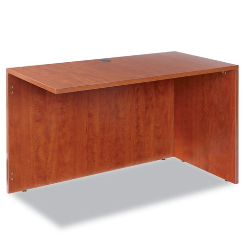 Valencia Series Reversible Return/Bridge Shell, 47-1/4w x 23-5/8d, Medium Cherry, Sold as 1 Each by Alera