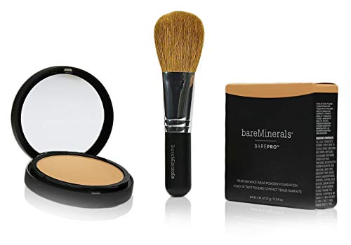 Bare Minerals Barepro performance wear - toffee 19 and Bare Minerals Face brush - flawless application Face brush ()
