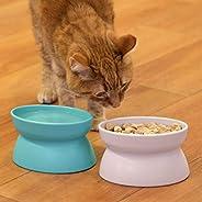 Kitty City Tigela de comida elevada para gatos, alimentador e irrigador para animais de estimação sem estresse
