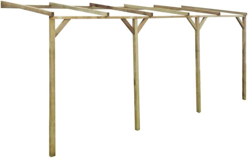 Zora Walter Pérgola de Madera con Techo Inclinado, 2 x 5 x 2, 2 m Estructuras de Exteriores Pérgolas, Arcos y enrejados de jardín: Amazon.es: Jardín