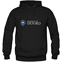 ZTANG Mens University Of Oxford Pullover Sweater Hoodies Black