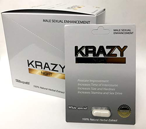 Krazy Night Black 24Pills in The Box Best Male Enhancing Natural Performance Capsules New Premierzen Most Effective Natural Amplifier for Performance, Energy, and Endurance (White 24 Pills)
