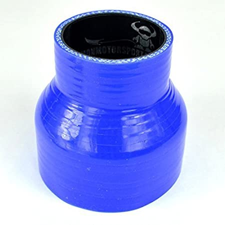 Blue with Black Liner Demon MotorSport 40mm  35mm Straight Silicon Reducer 76mm Length