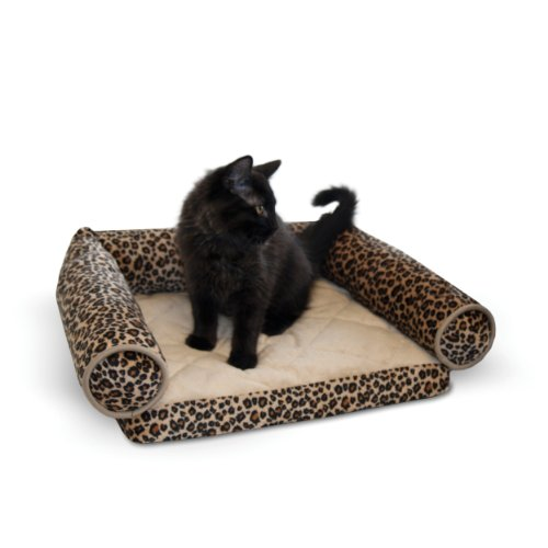 K&H Pet Products Lazy Lounger Pet Bed Leopard 14″ x 16″ For Sale