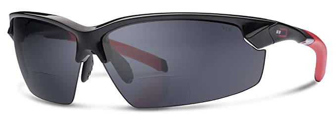 ef9a1220a656 X1 Bifocal Reading Sunglasses by Dual Eyewear (Black Frame/Gray Lenses, 1.5)