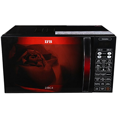 Renewed  IFB 23 L Convection Microwave Oven  23BC4, Black+Floral Design