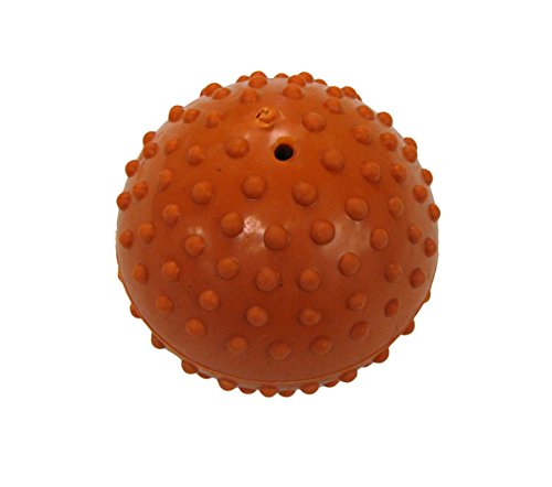 Boss Pet Rubber Dimple Ball with Bell Dog Toy ()
