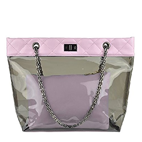 À Plage donalworld Jelly Chaîne Rose Main Femme Transparent Sac nPnRwAqp