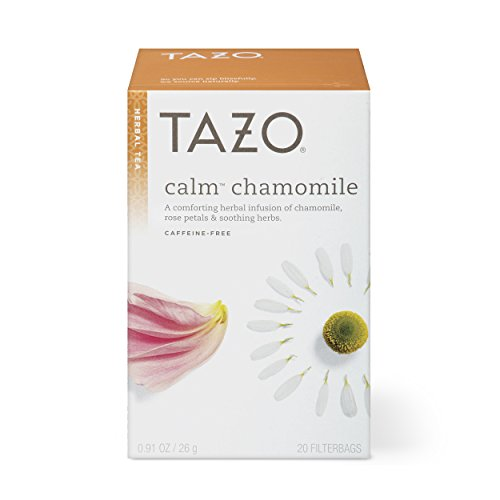 Tazo Calm Chamomile Herbal Tea Filterbags, 20 Count (Pack of 6) -