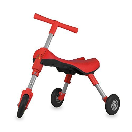 MEKBOK Fly Bike Foldable Indoor/Outdoor Toddlers Glide Tricycle - No Assembly Required - Red