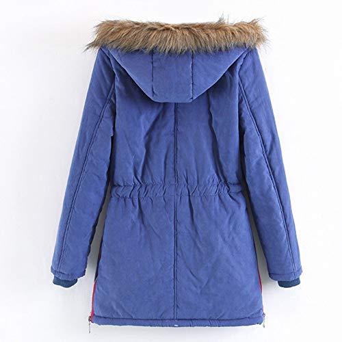Oficina En Formales Top Mujer De Caliente Para Trabajar Parka Invierno Esponjoso Y Abrigo Ropa Mujer Ashop Azul Chaquetas 8qzXzU