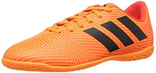 adidas Unisex-Kids Nemeziz Tango 18.4 Indoor Soccer Shoe, Zest/Black/Solar Red, 3.5 M US Big Kid