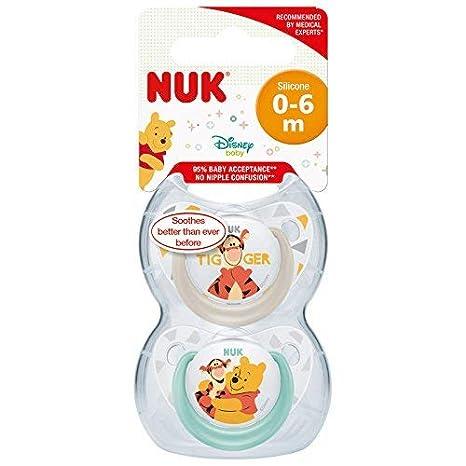 Winnie The Pooh Chupetes de Nuk Unisex Pack de 2 Chupetes ...