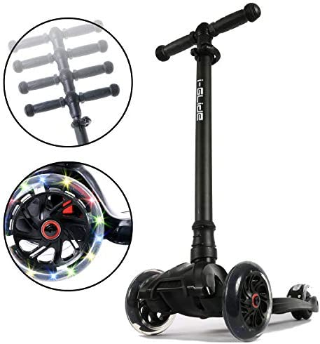 i-Glide Toddler Scooter – 3 Wheel Scooter for Kids – Kids Scooter with Warranty – Scooter for Girls Boys – Adjustable Handlebar – Wide Deck – Lean 2 Steer – Flashing LED Wheels – Children 2 Years