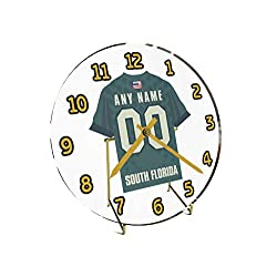 FanPlastic College Football American Athletic Conference - Personalized Desktop Clocks - Size 7 X 7 X 2 - The Best A Fan CAN GET !!! (South Florida)