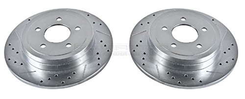 Power Stop AR85100XPR Rear Evolution Drilled & Slotted Rotor (Sport Trac Power Slot Rotors)