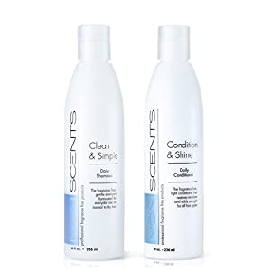 Nonscents Shampoo and Conditioner Set-Truly Unscented & Fragrance-Free. Great Lather!- No Allergy Causing Fragrances Added-Best Salon Quality- Beautifully Moisturizes= No Dry Hair!